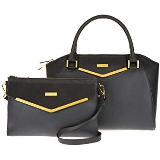 Joy & IMAN Couture with Velvet Only Black Leather Clutch Joy & IMAN Couture with Velvet Only Black Leather Clutch Image 1