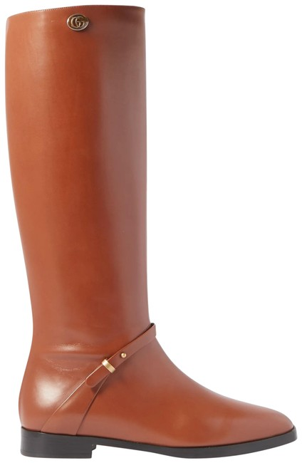 Item - Rosie Logo-embellished Leather Knee Boots/Booties Size EU 37 (Approx. US 7) Regular (M, B)