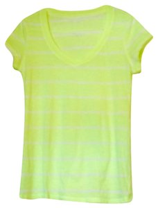 No Boundaries T Shirt Neon Yellow/off-white