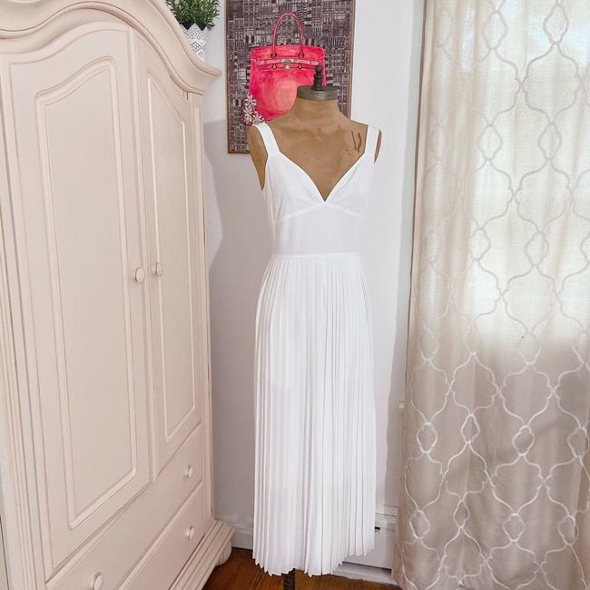 Vince White New V Neck Sleeveless Pleated Crop Wide Leg Jumpsuit Casual Bridesmaid/Mob Dress Size 2 (XS) Vince White New V Neck Sleeveless Pleated Crop Wide Leg Jumpsuit Casual Bridesmaid/Mob Dress Size 2 (XS) Image 4