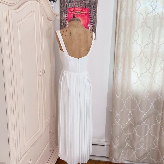 Vince White New V Neck Sleeveless Pleated Crop Wide Leg Jumpsuit Casual Bridesmaid/Mob Dress Size 2 (XS) Vince White New V Neck Sleeveless Pleated Crop Wide Leg Jumpsuit Casual Bridesmaid/Mob Dress Size 2 (XS) Image 6