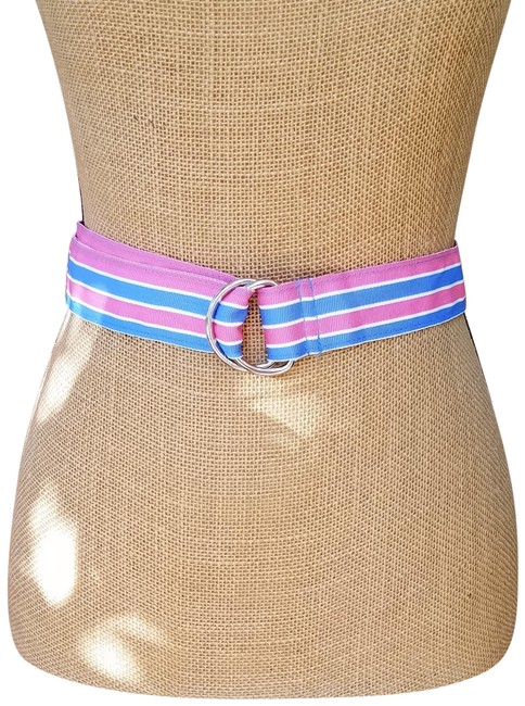 Item - Pink & Blue Fabric with D-ring Belt