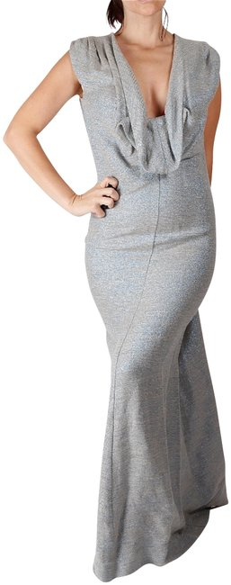 Item - Gray Women's Gown Sleeveless Cowl Neck Long Casual Maxi Dress Size 6 (S)