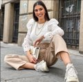 Zara With Combination Sleeves White Sweater Zara With Combination Sleeves White Sweater Image 4