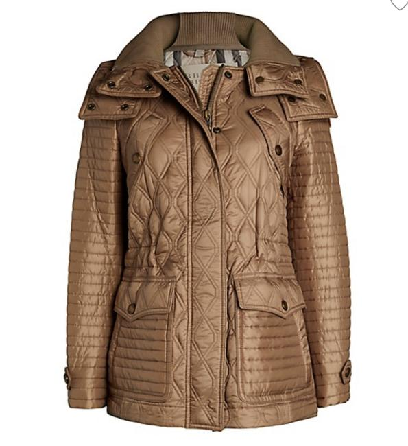 Item - Pale Fawn Bosworth Quilted Puff Jacket Size 12 (L)