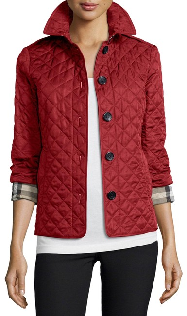 Item - Parade Red Quilted Button-front Coat Jacket Size 2 (XS)