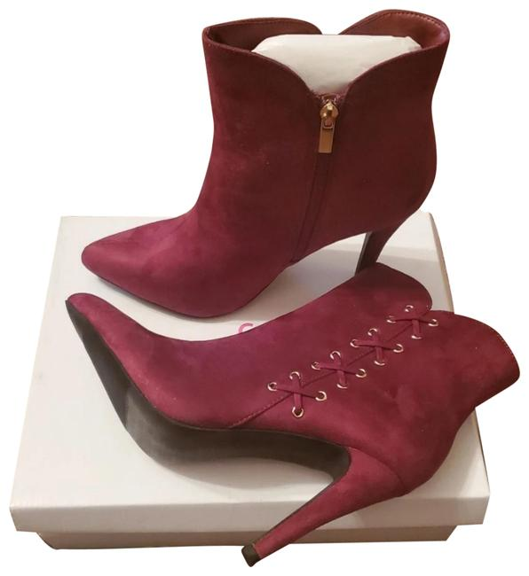 Item - Burgundy Faux Suede Boots/Booties Size US 11 Wide (C, D)