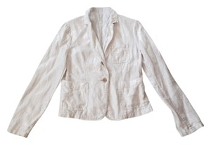 J.Crew White with Gold tint Blazer