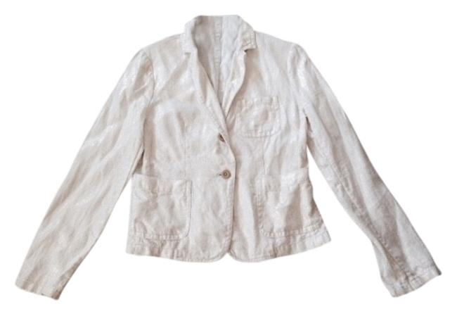 Item - White with Gold Tint Blazer Size 8 (M)