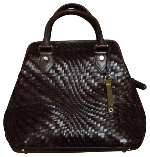 Preload https://item2.tradesy.com/images/cole-haan-woven-lady-s-b-chocolate-brown-satchel-27771-0-0.jpg?width=440&height=440