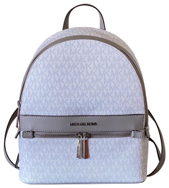 Item - Kenly Signature Bright White Grey Canvas Backpack