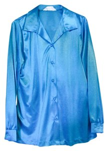 Blair Button Down Shirt Turquoise