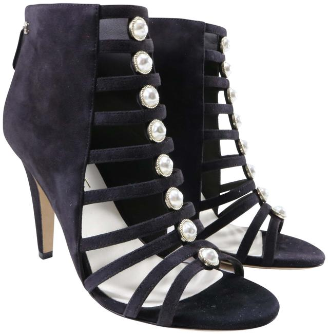 Item - Gray Kid Suede Pearl Centric Strappy Cc Logo C868 Sandals Size EU 36 (Approx. US 6) Regular (M, B)