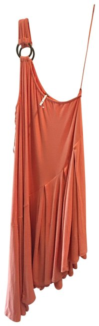 Item - Peach Off Shoulder High/ Nwot Mid-length Night Out Dress Size 0 (XS)