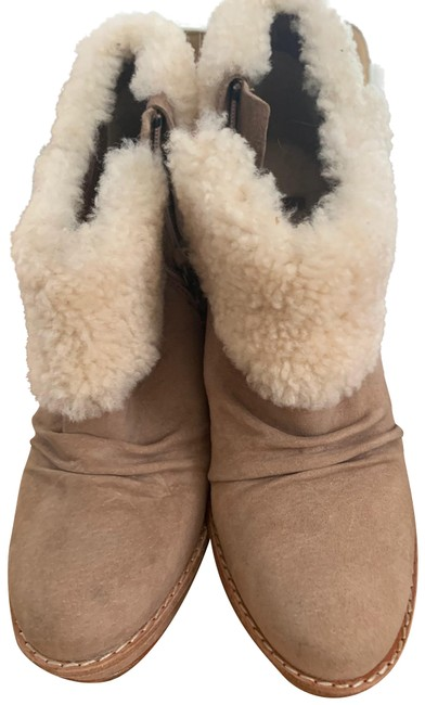 Item - Tan with Cream Top Glancy Boots/Booties Size US 9 Regular (M, B)