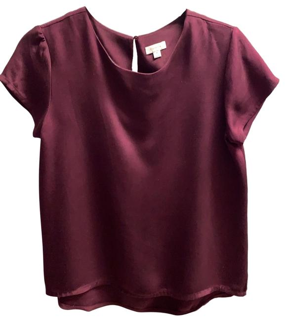 Item - Burgundy Silk Tee Blouse Size 0 (XS)