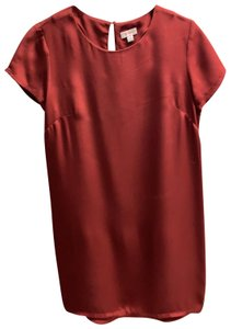 Cuyana short dress burgundy on Tradesy