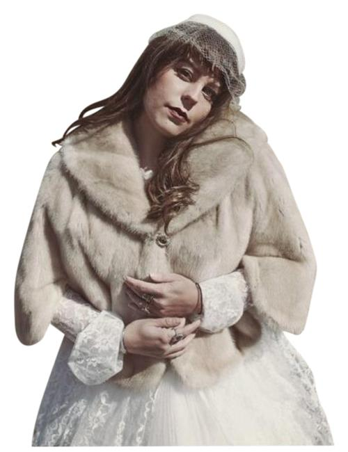 Item - Cream Tan Mr. John Couture Blonde Mink Stole Poncho/Cape Size OS (one size)