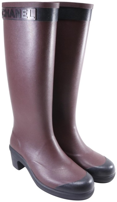 Item - Red Burgundy 45mm Sport Rain Rubber Burgundy Black High Rain C887 Boots/Booties Size EU 39 (Approx. US 9) Regular (M, B)