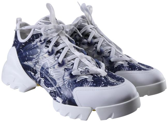 Item - Blue Tropicalia Printed D Connect Neoprene Leather Lace Up C894 Sneakers Size EU 42 (Approx. US 12) Regular (M, B)