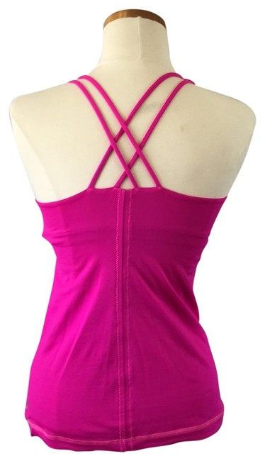 Item - Hot Pink Cross-back with Built-in Bra Activewear Top Size 6 (S)