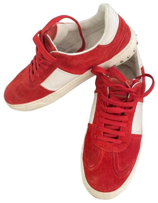 Item - Red Rockstud Suede Sneakers Size EU 40 (Approx. US 10) Regular (M, B)