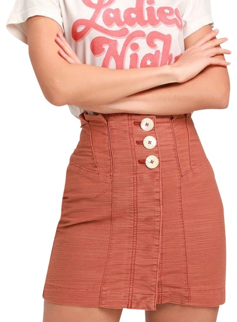 Item - Burnt Orange Every Hour Every Minute Skirt Size 6 (S, 28)