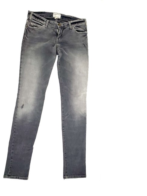 Item - Gray Distressed Current/Elliot Light Wash Low Rise The Skinny Jeans Size 26 (2, XS)