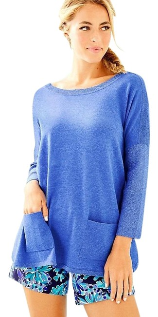 Item - Blue Silver | Cobo Boatneck Sweater Cover-up/Sarong Size 2 (XS)