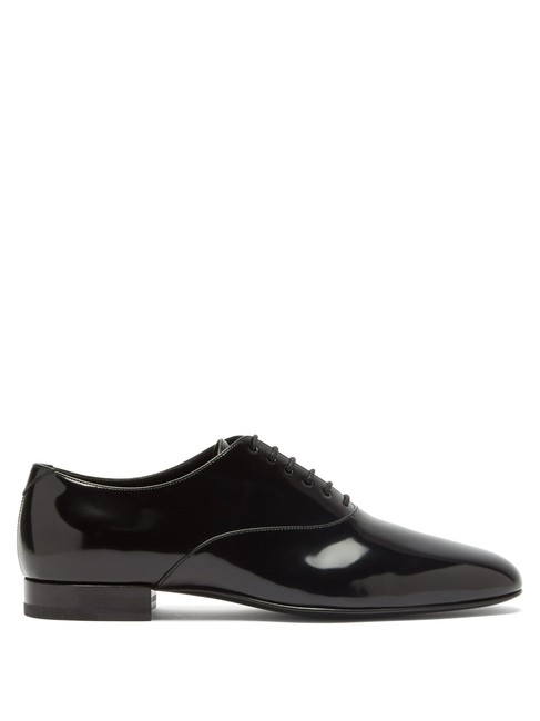 Item - Black Mf Smoking Patent-leather Oxford Formal Shoes Size EU 34 (Approx. US 4) Regular (M, B)