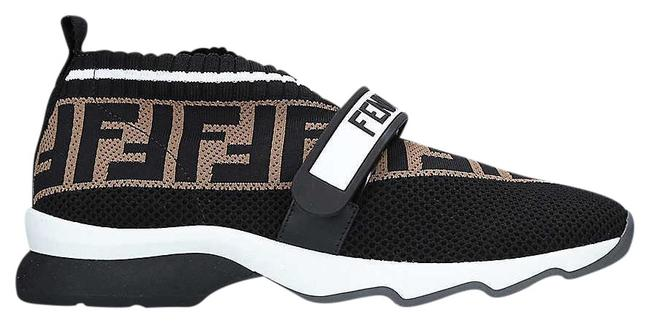 Item - Black/Brown Sg Rockoko Knitted Leather & Pvc Trainers Sneakers Size EU 38 (Approx. US 8) Regular (M, B)