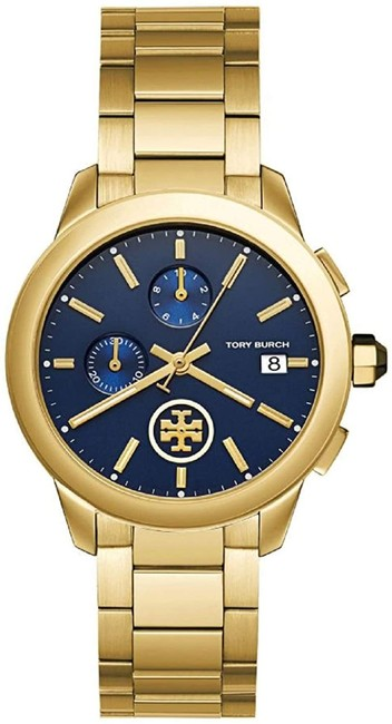 Item - Gold Collins Gold/Navy Chronograph Watch