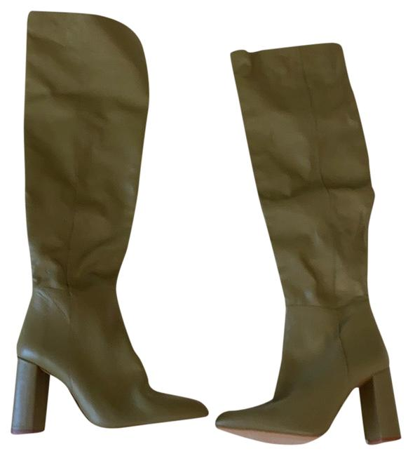 Item - Green Leather Never Worn Boots/Booties Size EU 38 (Approx. US 8) Regular (M, B)