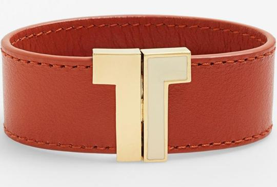 Tory Burch Tory Burch T Clasp Leather Bracelet