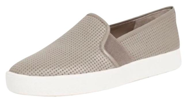 Item - Gray White Leather Blair Perforated Sneakers Flats Size US 9 Regular (M, B)