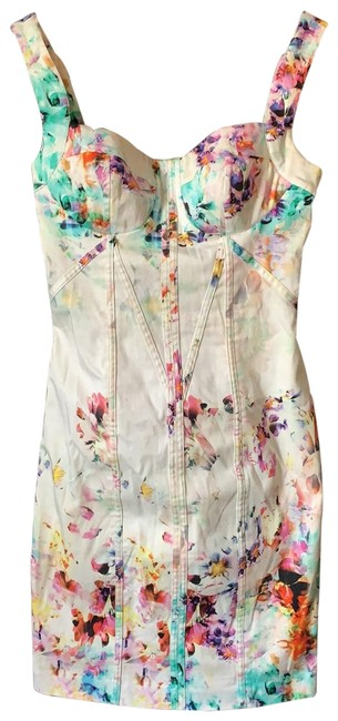 Item - Multicolor Floral Bodycon Short Night Out Dress Size 2 (XS)