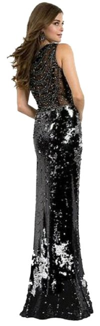 Maggie Sottero Black Sequin Beaded Gown Flirt By Long Cocktail Dress Size 10 (M) Maggie Sottero Black Sequin Beaded Gown Flirt By Long Cocktail Dress Size 10 (M) Image 1