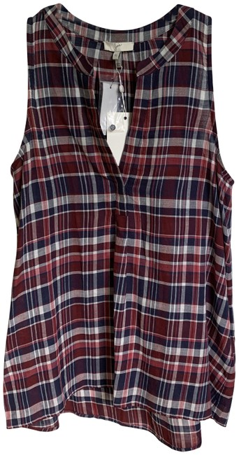 Item - Multicolor XS New Plaid Cotton In Xs. Tank Top/Cami Size 2 (XS)