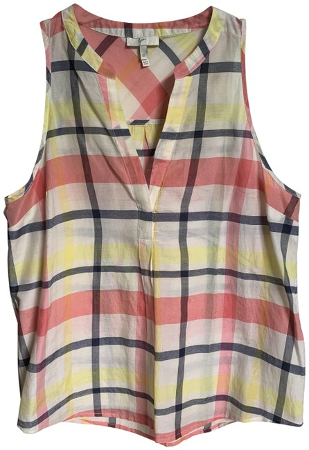 Item - Multicolor XS Plaid Cotton/Silk In Xs. Tank Top/Cami Size 2 (XS)