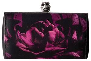 Alexander McQueen Black Purple Clutch