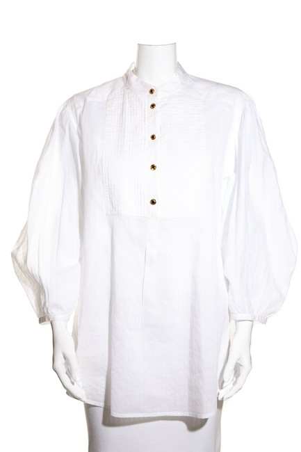Item - White Intage The Edits Future Classics Sale Consign Now Temp Blouse Size 8 (M)