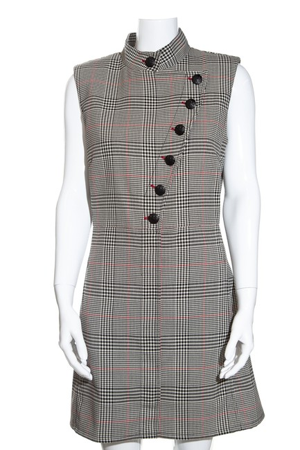Item - Multicolor Houndstooth Mid-length Cocktail Dress Size 10 (M)