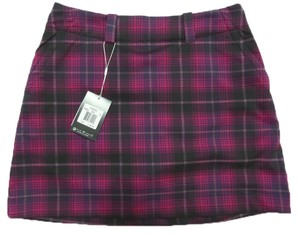 Nike New Ladies NIKE GOLF Dark Pink & Black Plaid Athletic SKORT Skirt w/ Shorts Size 8 NWT