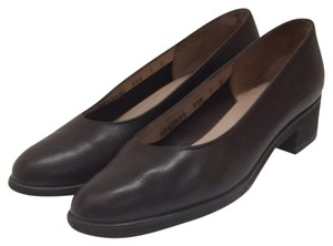 Salvatore Ferragamo Dark Brown Pumps