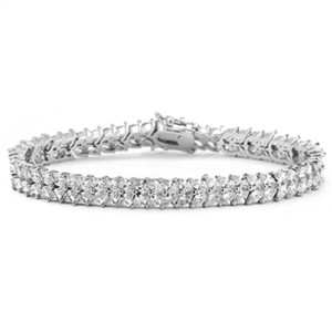 Silver/Rhodium Red Carpet Double Marquis Crystals Bracelet