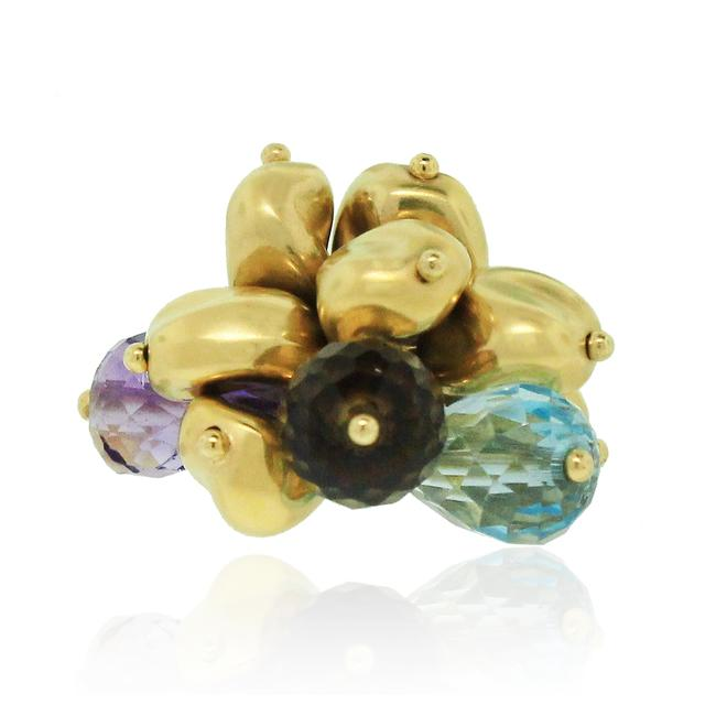 Item - Multicolor 18k Yellow Gold Gemstone Cluster Ring