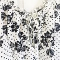 """Free People """"One On One Date"""" Floral Long Sleeve Bodysuit Cream Black Top Free People """"One On One Date"""" Floral Long Sleeve Bodysuit Cream Black Top Image 5"""