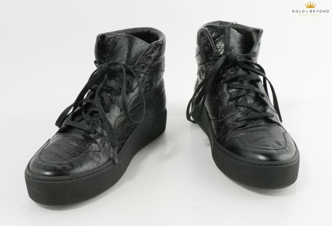 Item - Black High-top Leather Sneakers Shoes