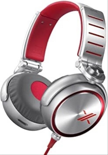 Item - Silver / Red Mdrx10/Red Simon Cowell X Headphones with 50mm Diaphragms Tech Accessory