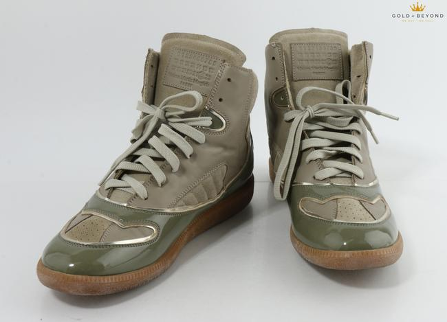 Item - Green 22 Men's Patent Mixed High-top Sneakers Shoes